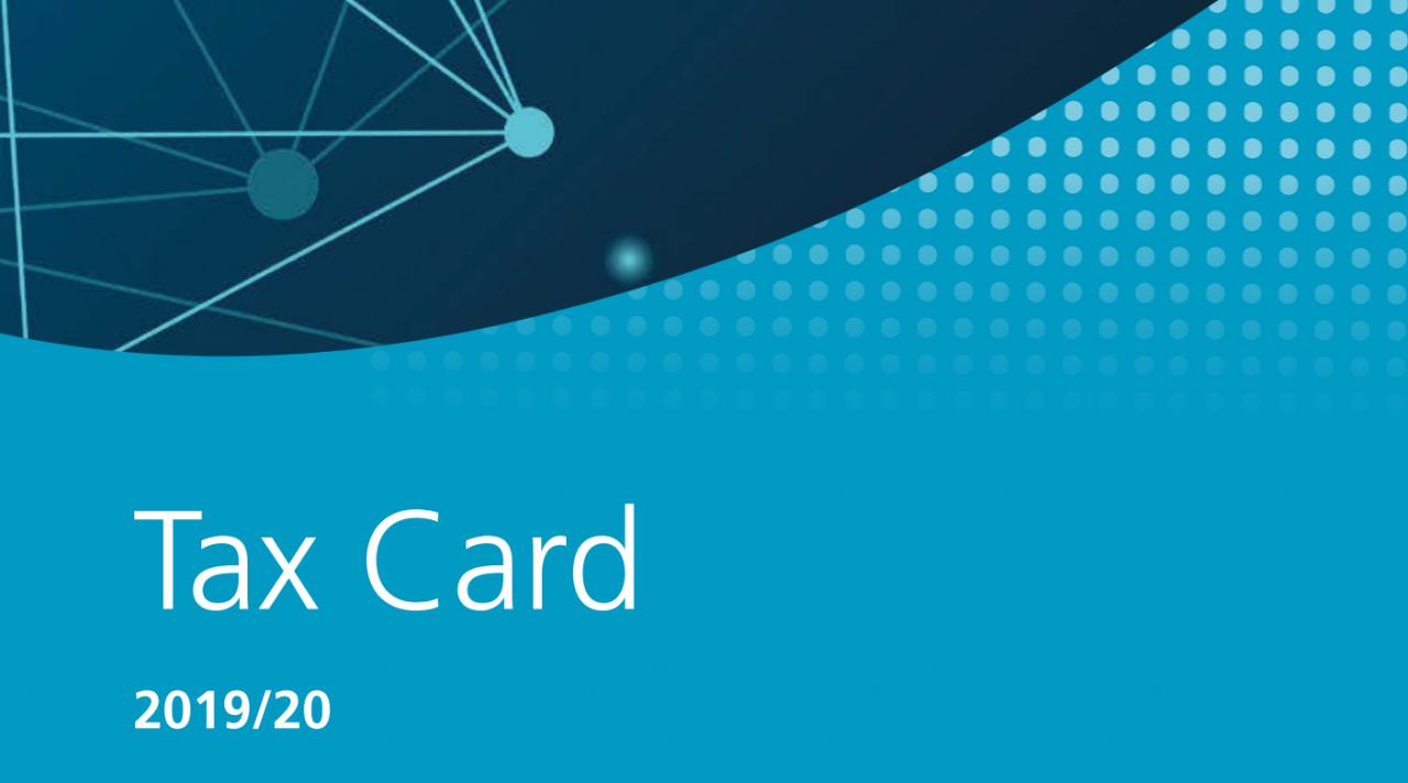 2019/20 Tax Card